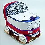 Tartas de pañales de bebé del carro Chicco Azul