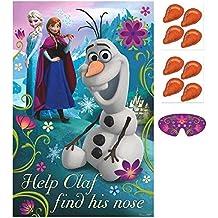 Disney Frozen Olaf Pin Nariz Juego Para Fiesta - Tamaño Único