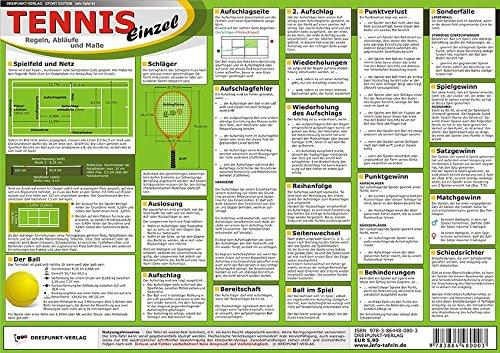 Preisvergleich Produktbild Tennis - Einzel: Regeln, Abläufe und Maße
