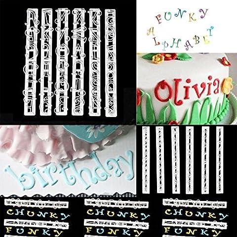 6pcs Emporte-pièces Moules Lettres de l'Alphabet et Chiffres Décoration de