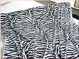 TOLKO® Pannesamt Stoff in Zebra-Optik - hochwertige