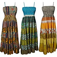 Womens Sundress Lot Of 3 Adjustable Spaghetti Strap Beach Dress Small/Medium