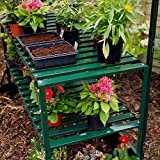 Halls 2 Tier Greenhouse Staging - Green