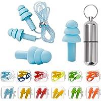 Ohrstöpsel für Gehörschutz, 12 Paar Gehörschutzstöpsel - SNR 31dB, aus wiederverwendbar Silikon, wasserdicht, weich…