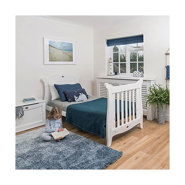 Boori SleighExpandableTM- Barley Boori Converts from cot bed to toddler bed - toddler guard panel sold separately Converts to a full size single bed -L 197cm W 108cm H 110cm-expandableconversion kit included Built from solid australian araucaria 6