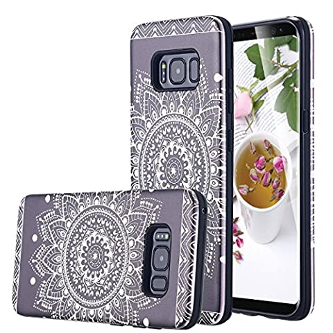 Coque Galaxy S8,Galaxy S8 Case, Snewill Art Floral Slim Cover