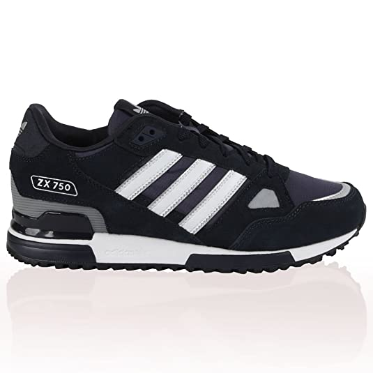 2c048080c5b80 Adidas ZX 750  Mens Adidas Originals Zx 750 Blue White Stripes Suede  Trainers Shoes  Amazon.co.