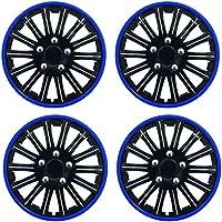 """Wing Mirrors World Ford Focus coche tapacubos de plástico cubre iluminación 15""""Negro & Azul"""