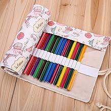 XYTMY - Estuche para lápices, bolígrafos, gomas, sacapuntas, rotuladores o agujas de ganchillo, tela, hecho a mano, enrollable, color 36 Holes, Love in Paris