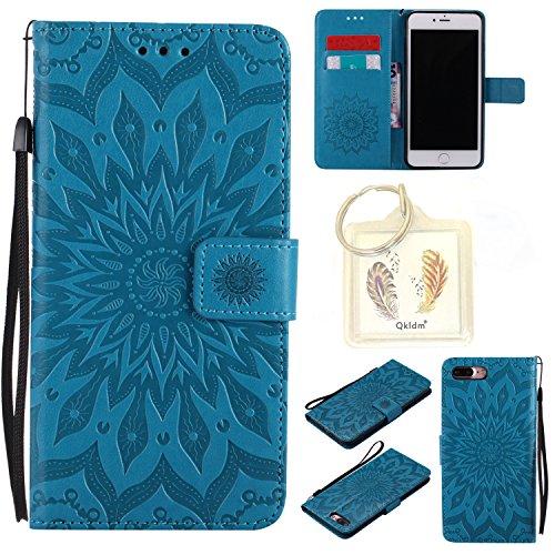 """für Iphone 7 Plus (5,5"""") Geprägte Muster Handy PU Leder Silikon Schutzhülle Handy case Book Style Portemonnaie Design für Apple Iphone7 Plus (5,5"""") + Schlüsselanhänger(2W) (3)"""
