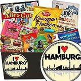 I love Hamburg | Schokoladen Set | Geschenkset | I love Hamburg | Schokoladenkorb | Hamburg Geschenk für Paare | Geburtstagsgeschenk Hamburg | GRATIS DDR Kochbuch