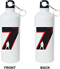 Crazy Sutra Classic Printed Special Football Water Bottle/Sipper White - 600Ml [Sipper-CristR7]