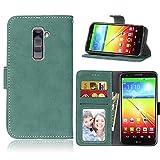 LG G2 Case,BONROY® LG G2 Retro Matte Leather PU Phone
