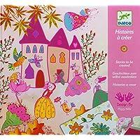 Djeco 599386031 - Imágenes para estampar, escenarios y plantilllas. historietas de princesas
