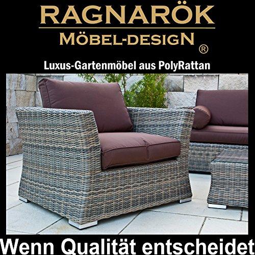 deutsche marke polyrattan lounge 7 jahre garantie gartenmoebel set. Black Bedroom Furniture Sets. Home Design Ideas