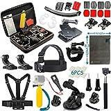 Vanwalk 16-in-1 Kit accessori per GoPro Hero 5 Sessione 4 3+ 3 2 1 Silver Black, macchina fotografica di azione SJCAM SJ4000 / SJ5000 / SJ6000 / dBpower / WiMiUS / Xiaoyi / Xiaomi Yi / TecTecTec