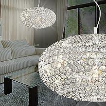 MIA Klassische Wandleuchte aus Behang mit Kristallen klar in chrom