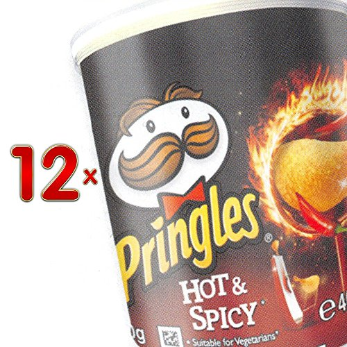 Pringles Hot & Spicy 12 x 40g Packung (scharfe und würzige Pringles-Chips)