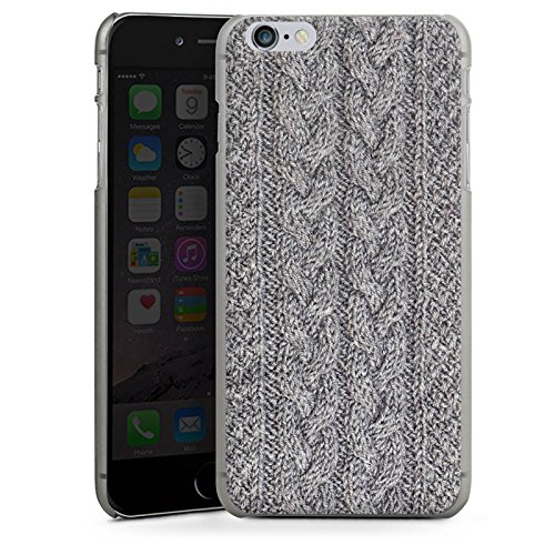 Apple iPhone 5s Housse Étui Protection Coque Look laine Tricoter Motif CasDur anthracite clair