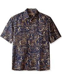 Kahala Men's Surfs Carving Tri Blend Severson Print Hawaiian Shirt