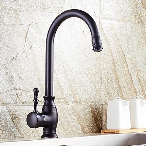 Modylee Cucina rubinetto in ottone nero 360 girevole bagno bacino lavello Miscelatore rubinetto gru, cucina rubinetto