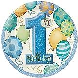 23cm blau Luftballons 1. Geburtstag Party Teller, 8Stück