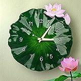 Reloj de pared Creative Salón Dormitorio Simple Modern Lotus Leaf Reloj