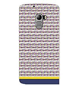 PrintDhaba Owl Pattern D-1668 Back Case Cover for LENOVO K4 NOTE A7010a48 (Multi-Coloured)