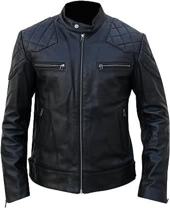 Juicy Trendz® Mens Leather Jacket Biker Jacket Classic Style Motorcycle Motorbike Rider Coat