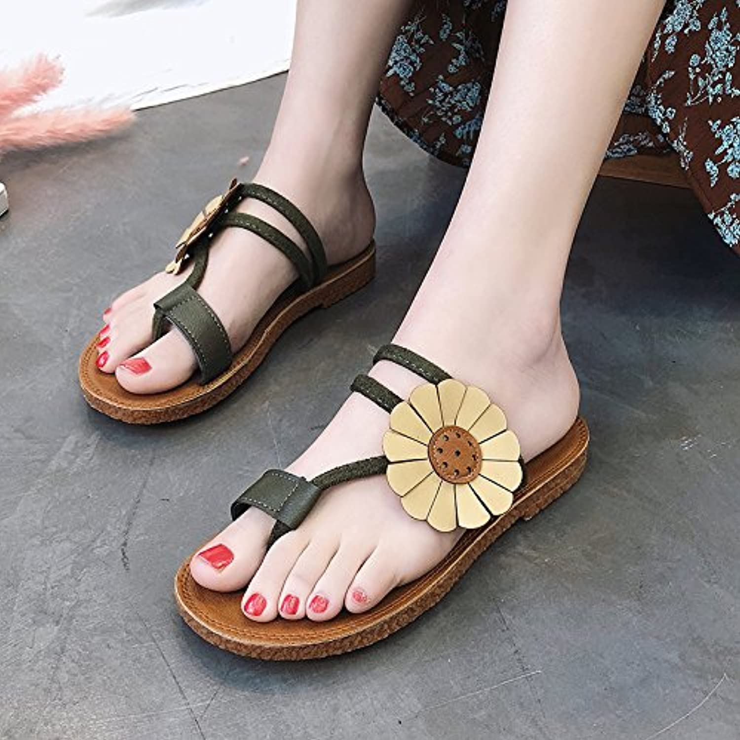 aa95fb0d9def GAOLIM The Slippers Female Summer Leisure Shoes Shoes Shoes Low With Wild  Anti-Slip Women Shoes B07C3R9RCD Parent e15f1b