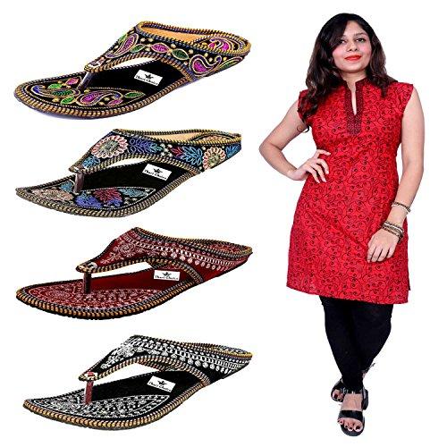 Thari Choice Woman 4 Pair Sandal With One Sleeve less Cotton Stich...