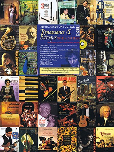 Renaissance & Baroque: Music for 2 Guitars [With CD (Audio)] (Music Minus One (Numbered))