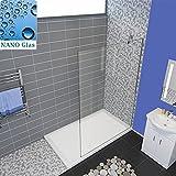 Duschabtrennung walk in Duschwand Duschwand Dusche 8mm Glas mit Nano Duschtrennwand 76x195cm