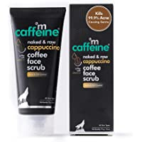 mCaffeine Cappuccino Coffee Face Scrub | Kills 99.9% Acne Causing Germs | Vitamin E, Cinnamon Extracts | All Skin Types…