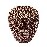 Stilvoller Beistelltisch PEARLS 50 cm kupfer Ethno Hocker Couchtisch Wohnzimmertisch Metalltisch Handarbeit handgefertigt Vintage Shabby Metallkorb Korb