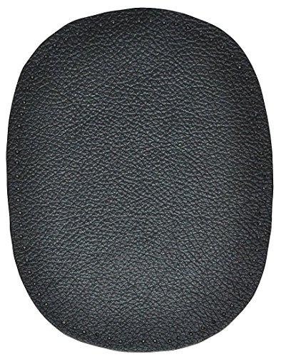 alles-meine.de GmbH 1 Stk. Nappa - echtes Leder Flicken - schwarz - 10 cm * 13 cm - oval - Aufnäher...