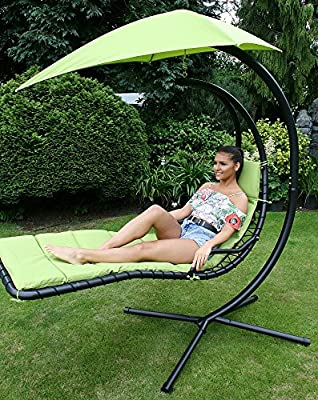 Deluxe Garden Outdoor Helicopter Dream Chair Swing Hammock Sun Lounger Seat produced by EEZZY SWING - quick delivery from UK.