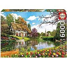 Educa Borrás - Puzzle Primavera en el Lago, 6000 piezas (16784.0)