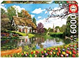 Educa 16784 - 6000 Lakeside Cottage at Spring, Puzzle