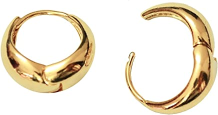 Chandrika Pearls Gems & Jewellers Salman Khan Inspired Golden colour copper hoop Earring boys and men
