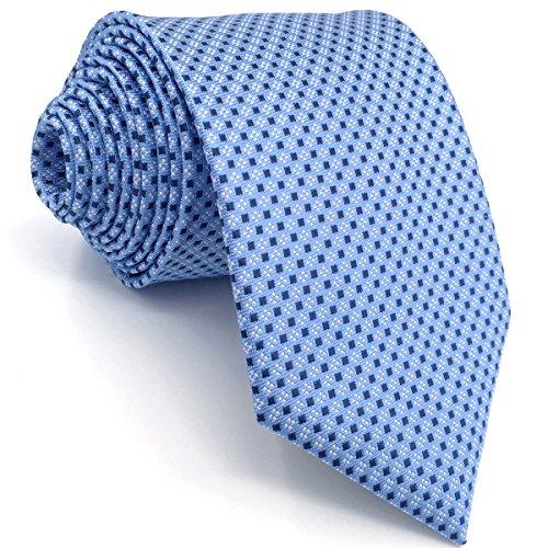 Shlax&Wing Herren Krawatte Blau Punkte Business Mehrfarbig Seide Geschäftsanzug For Männer Dünne (Skinny Tie Blaue)