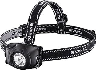 Varta 1 Watt LED Indestructible Head Light H20 (inkl. 3x High Energy AAA Batterien Taschenlampe Flashlight Stirnlampe Kopflleuchte extrem robustes (Falltest 9m) und spritzwassergeschütztes IPX4 Gehäuse)