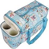My Newborn Baby Diaper Changing Cum Bottle Carry Bag (Sky-MomBag)