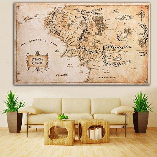 te Von Mittelerde Herr Der Ringe Silk Tuch Poster Home Decor (Sarg-form)