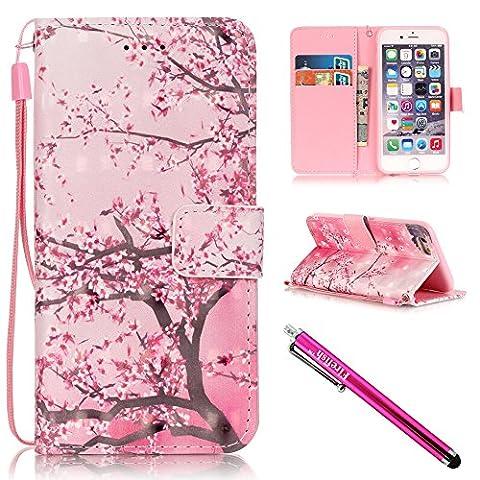 iPhone 5/5S/SE Hülle, Tasche Ledertasche Flip Beutel Haut Slim Fit