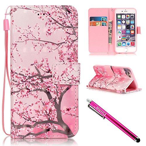 iPhone 6/6S Hülle, Tasche Ledertasche Flip Beutel Haut Slim Fit Bumper Schutz Magnetisch Schließung Stehening Soft SchutzHülle Weich Silikon Cover Case Schale für Apple iPhone 6/6S (4.7 Zoll) (Zitate Iphone 6 Wallet Case)