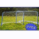 Land-Haus-Shop 2er Set Metall Fußballtore Fußball Mini Garten Soccer Tor Tore Goal 78x56x45cm