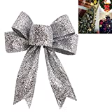 FeiliandaJJ Weihnachten Deko Bogen Anhänger Christbaumschmuck Party Hochzeit Haus Dekoration Feiertags Geschenke (Silber)