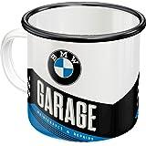Nostalgic-Art 43216 - Taza esmaltada retro BMW – Garaje – Idea de regalo para los fans de los accesorios de coche y moto – Ta