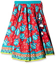 Biba Girlss Skirt (KW - 1715_Red_2 - 3 years)